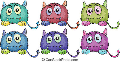 Six different monsters