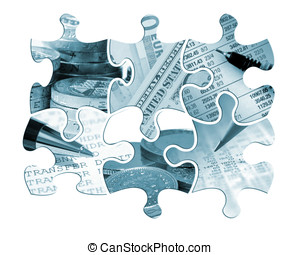 Six financial jigsaw pieces