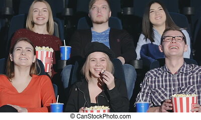 Six friends came to watch comedy