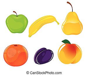 Six fruits set