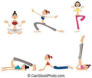 Six girls training