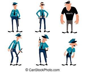 Six guards set - Vector illustration of a six guards set
