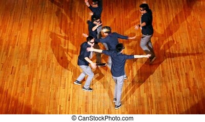 Six guys Poreotics team dance on contest HHI - Cup of Russia
