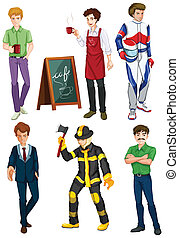 Six men with different professions
