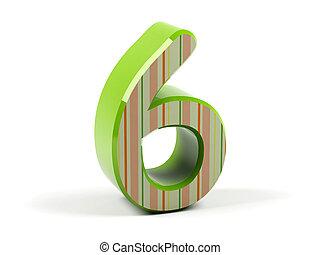 six., número