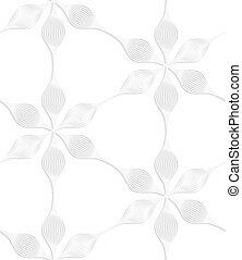 six, pédale, blanc, papier, fleurs
