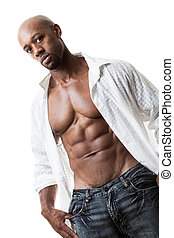 Six Pack Abs - Toned and ripped lean muscle fitness man...