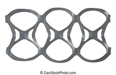 Six Pack Holder - Beer or Cola 6-can Plastic Band - Isolated