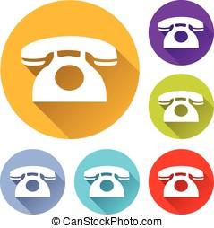 six phone icons