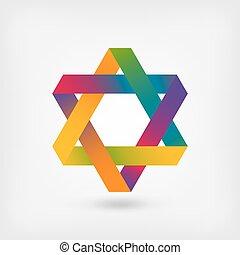 six-pointu, symbole, étoile