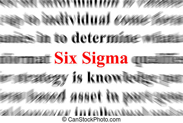 Six Sigma - a conceptual image with the focus on the word...