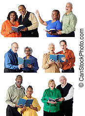 Six Singing Senior Couples - Six individual senior couples...