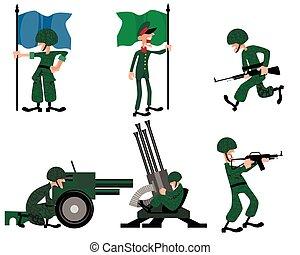 Six soldiers set