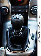 Six Speed Stick Shift Car Transmission. Stick Shift Driving....
