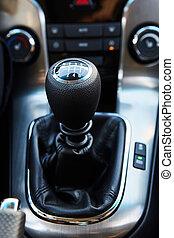 Six Speed Stick Shift Car Transmission.