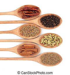 Six Spice Selection - Spice selection of chili, coriander, ...