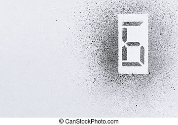 six stencil number