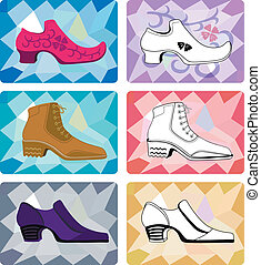 Six stylish man shoes