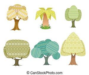 Six trees set