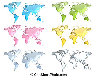 Six worlds 3d pastel