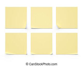 six yellow sticker