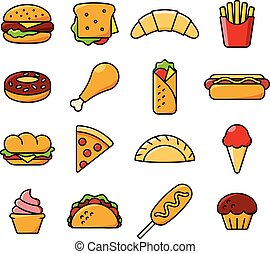 sixteen fast food icons