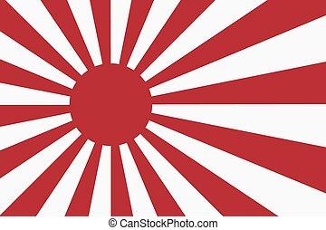 Sixteen Sun rays of Japanese navy flag . - Sixteen Sun rays...
