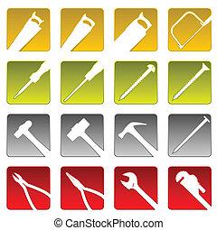 Sixteen tool icons