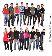 sixteen young people group