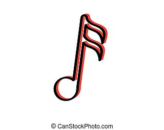 Sixteenth musical note icon