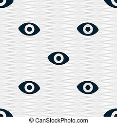 sixth sense, the eye icon sign. Seamless pattern with geometric texture. Vector