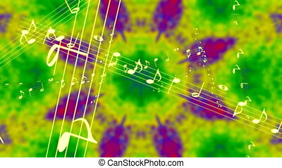 Retro Sixties Music Tie Dye Looping Animated Background
