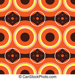sixties orange retro - Retro sixties design with warm orange...