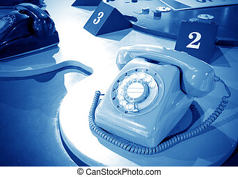 Sixties rotary dial telephone