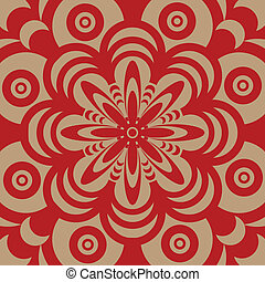 sixties wallpaper design - Abstract illustrated design in...