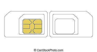 size SIM card template