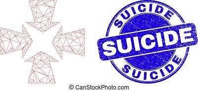 självmord, stämpel, försegla, blå, kadaver, krympa, nät, ...