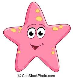 sjöstjärna, glad