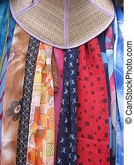 sjaals, en, hoedje