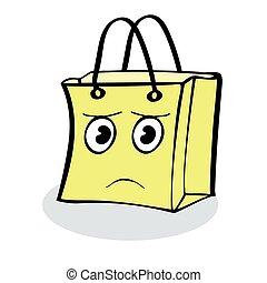 sjal, trist, försäljning, gåva, kolli