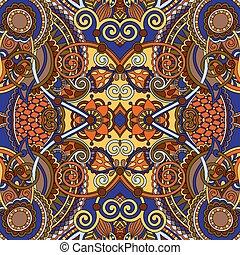 sjalett, stil, fyrkant, hals, ukrainsk, mönster formge, ...