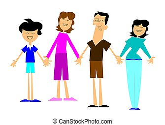 sjednocený, za, rodina