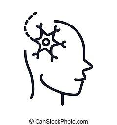 sjukdom, neurologiska, neuron, fodra, cell, alzheimers, stil...