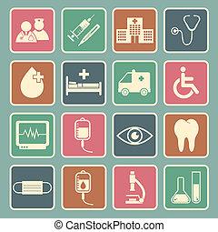 sjukhus, ikon