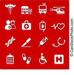 sjukhus, medicinsk, ikon, kollektion, internet