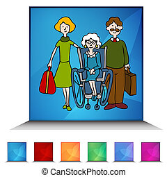 sjukvård, kristall, yrka hemma, senior, mosaik