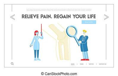 sjukvård, orthopedist, glas., ortopedi, sjukhus, linjär, ...