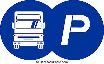 skåpbil, parkering