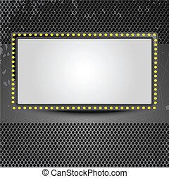 skærm, banner