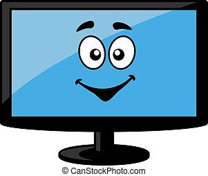 skærm, fjernsynet, computer kontrolapparat, eller
